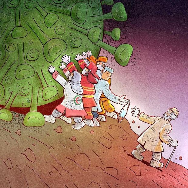 Bộ tranh về những người ở tuyến đầu chống dịch Covid-19: Dù virus là kẻ thù vô hình nhưng cuộc chiến vẫn quá tàn nhẫn và có nhiều sự hy sinh! - Ảnh 9.