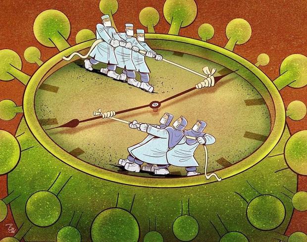 Bộ tranh về những người ở tuyến đầu chống dịch Covid-19: Dù virus là kẻ thù vô hình nhưng cuộc chiến vẫn quá tàn nhẫn và có nhiều sự hy sinh! - Ảnh 14.