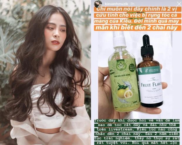 Con gái Minh Nhựa dùng serum dưỡng tóc chưa đến 100k để tóc bồng bềnh, ca nương Kiều Anh cũng chung bí kíp - Ảnh 3.