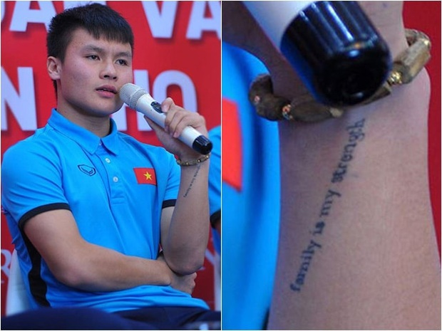 Giải mã hình xăm của tuyển thủ Việt Nam: Quang Hải muốn là vua, tranh cãi đóa hoa hồng trên tay Công Phượng - Ảnh 7.