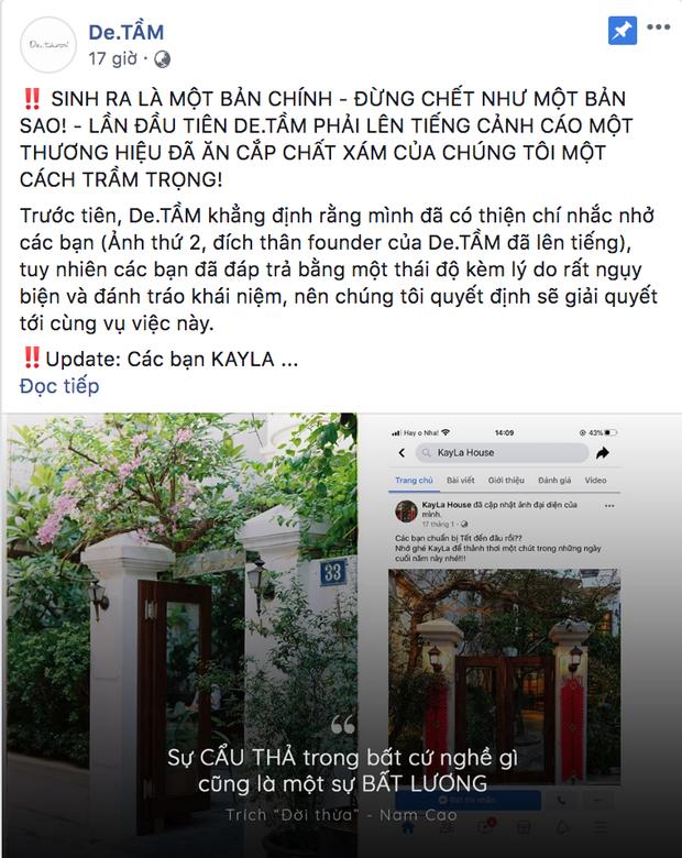 Quán cà phê nổi tiếng Hà Nội - De.TẦM tố bị đạo nhái y chang từ thiết kế không gian đến nội dung trên fanpage khiến cư dân mạng xôn xao - Ảnh 1.