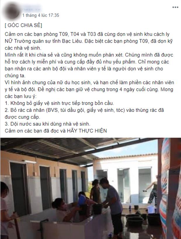 Cảm thấy có lỗi vì là gánh nặng của Tổ quốc - nữ du học sinh xinh đẹp tự giác cải tạo nhà vệ sinh chung, góp tiền ủng hộ khu cách ly - Ảnh 3.