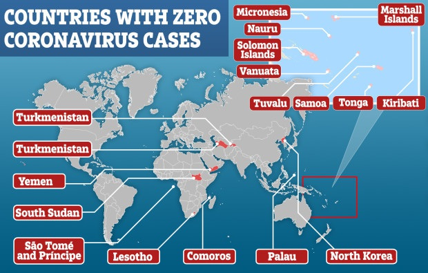 16 đất nước cuối cùng chưa ghi nhận ca nhiễm Covid-19: Hầu hết là những quốc đảo xa xôi, có nơi chỉ đón 160 du khách mỗi năm - Ảnh 1.