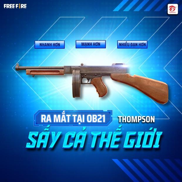 Free Fire: Chi tiết về Thomson - ông vua mới của dòng súng tiểu liên (SMG) sẽ có mặt trong bản cập nhật OB21 - Ảnh 1.