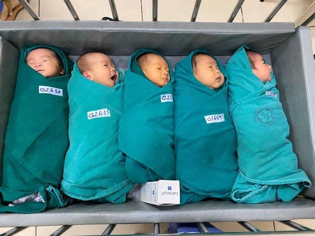 5 thiên thần nhỏ chào đời trong khu cách ly Bệnh viện Bạch Mai - Ảnh 1.