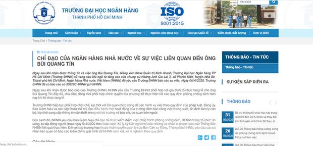 Ngân hàng Nhà nước yêu cầu kiểm điểm các cá nhân liên quan vụ TS Bùi Quang Tín tử vong - Ảnh 2.