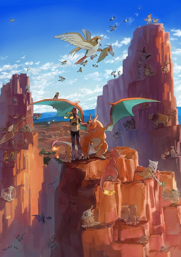 Nhìn loạt tranh Pokémon và con người cùng chung sống hạnh phúc mà chỉ muốn bắt chúng về làm pet - Ảnh 1.