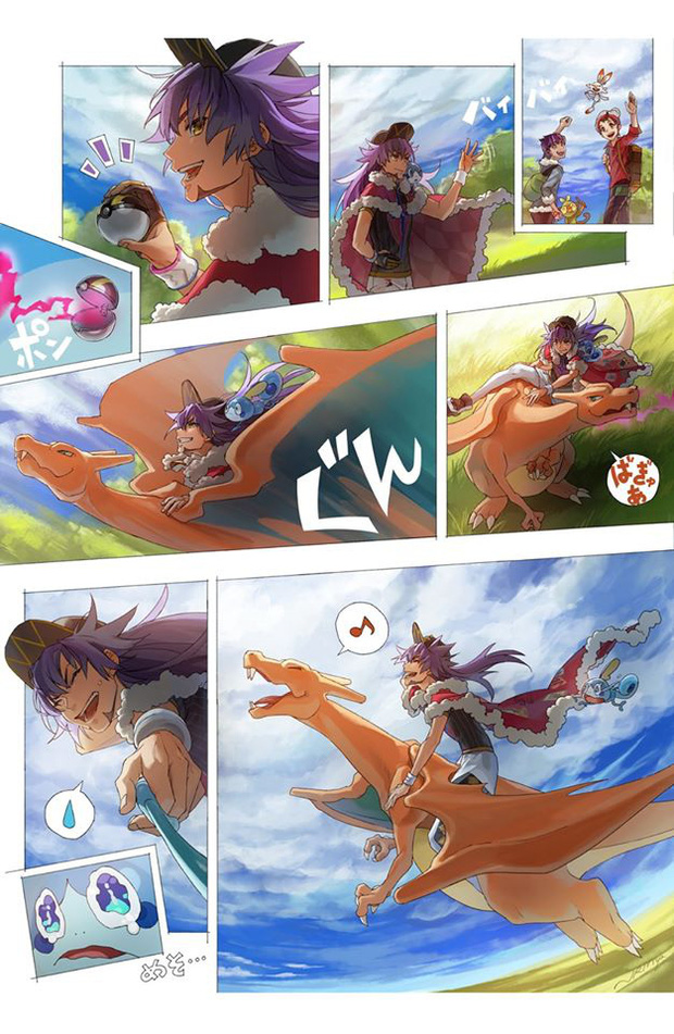 Nhìn loạt tranh Pokémon và con người cùng chung sống hạnh phúc mà chỉ muốn bắt chúng về làm pet - Ảnh 13.