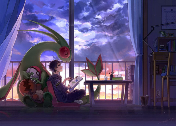 Nhìn loạt tranh Pokémon và con người cùng chung sống hạnh phúc mà chỉ muốn bắt chúng về làm pet - Ảnh 4.