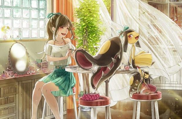 Nhìn loạt tranh Pokémon và con người cùng chung sống hạnh phúc mà chỉ muốn bắt chúng về làm pet - Ảnh 6.