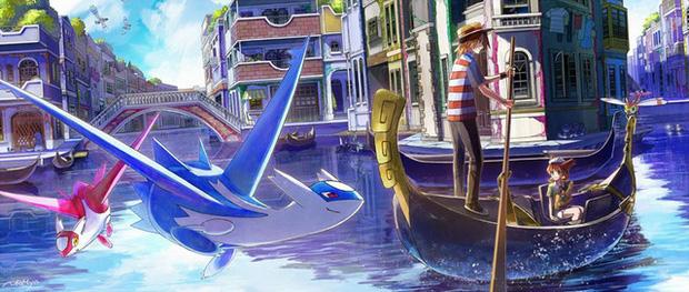 Nhìn loạt tranh Pokémon và con người cùng chung sống hạnh phúc mà chỉ muốn bắt chúng về làm pet - Ảnh 9.