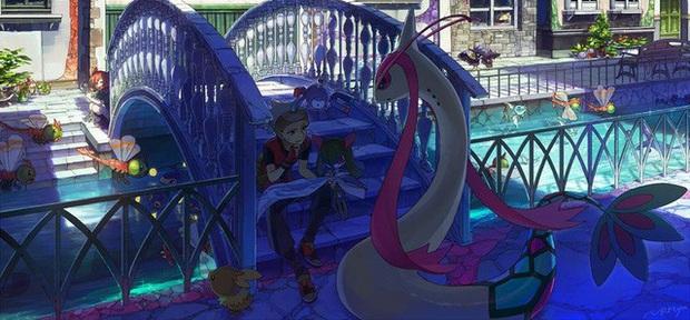Nhìn loạt tranh Pokémon và con người cùng chung sống hạnh phúc mà chỉ muốn bắt chúng về làm pet - Ảnh 10.