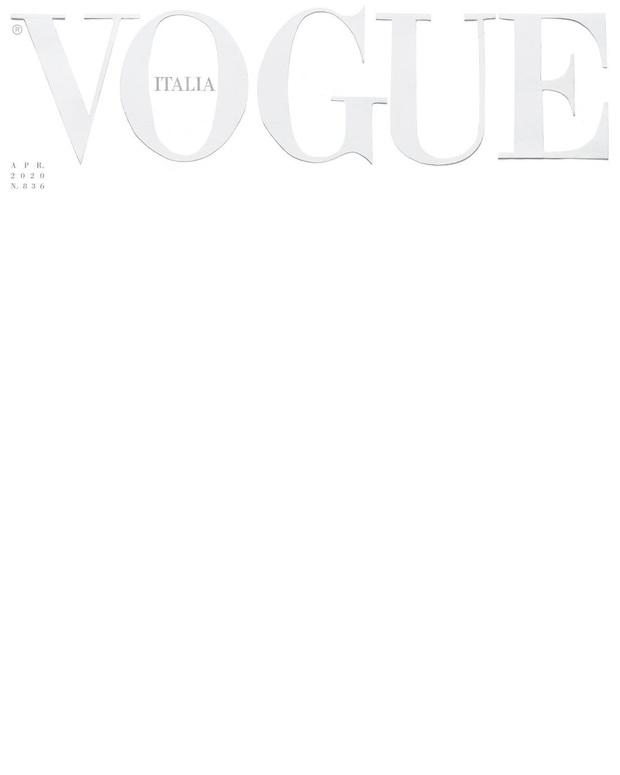 Sốc: Tạp chí Vogue Ý để trang bìa trắng tinh - trống trơn, chuyện gì đang xảy ra? - Ảnh 1.