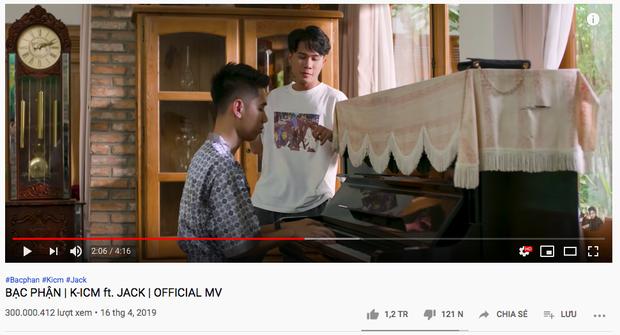 Jack chính thức trở thành nam ca sĩ Vpop đầu tiên có MV đạt 300 triệu view với Bạc Phận, rinh về 3 triệu subscribe chỉ sau thời gian ngắn - Ảnh 2.