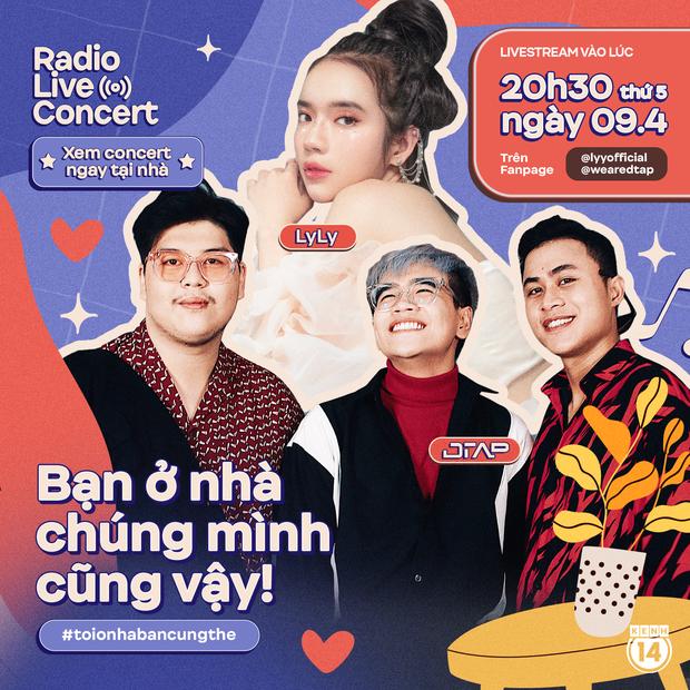 Team hit-maker đổ bộ Radio Live Concert: LyLy có ngẫu hứng hát bài mới, nghe DTAP kể chuyện làm nhạc dân gian cùng Hoàng Thùy Linh? - Ảnh 1.