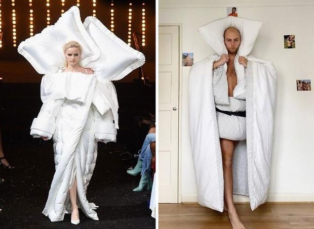 Ở nhà chán quá, cư dân mạng lên ý tưởng tái chế trang phục nhà mẫu cao cấp bằng đồ dùng trong nhà - Ảnh 6.