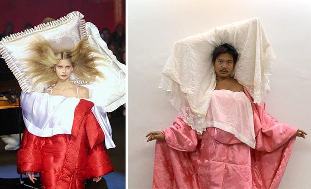 Ở nhà chán quá, cư dân mạng lên ý tưởng tái chế trang phục nhà mẫu cao cấp bằng đồ dùng trong nhà - Ảnh 11.
