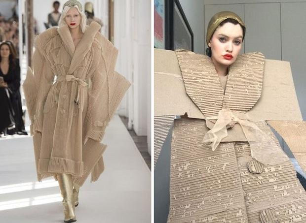 Ở nhà chán quá, cư dân mạng lên ý tưởng tái chế trang phục nhà mẫu cao cấp bằng đồ dùng trong nhà - Ảnh 17.