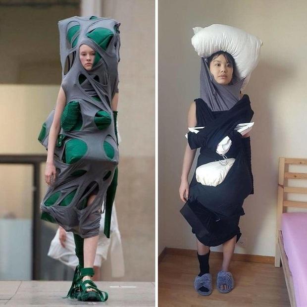 Ở nhà chán quá, cư dân mạng lên ý tưởng tái chế trang phục nhà mẫu cao cấp bằng đồ dùng trong nhà - Ảnh 20.