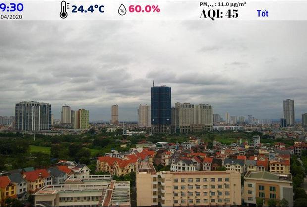 Hà Nội: Không khí sạch hơn do cách ly xã hội? - Ảnh 1.