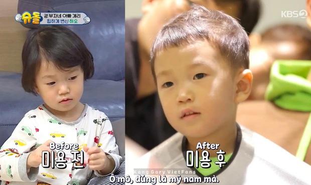 Kang Gary lôi quý tử ra cắt tóc và kết quả... cả 2 dắt nhau đến tiệm khắc phục hậu quả! - Ảnh 7.