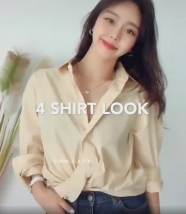 Sơ mi dáng cơ bản có tới 6 cách mặc, giúp bạn thành nàng công sở sang chảnh chuẩn style nữ chính phim Hàn - Ảnh 9.
