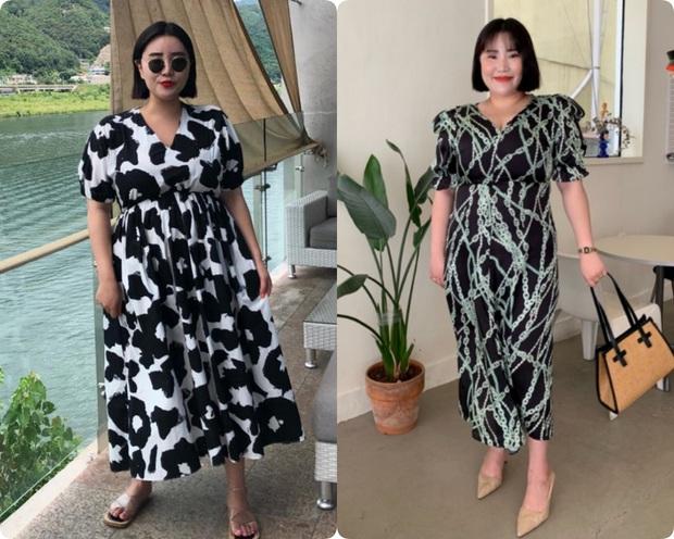 Nặng tới hơn 80kg nhưng lại siêu ghét đồ đen, nàng mập xứ Hàn vẫn diện váy xinh tươi nhờ chọn đúng kiểu dáng - Ảnh 2.