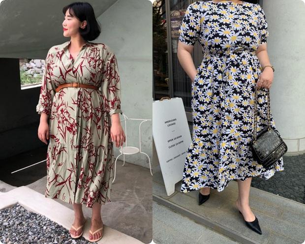 Nặng tới hơn 80kg nhưng lại siêu ghét đồ đen, nàng mập xứ Hàn vẫn diện váy xinh tươi nhờ chọn đúng kiểu dáng - Ảnh 3.