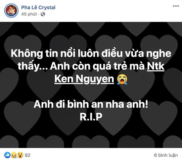 Ngô Kiến Huy, Hari Won và dàn sao Vbiz bàng hoàng xót thương khi hay tin NTK Ken Nguyễn qua đời ở tuổi 41 - Ảnh 6.