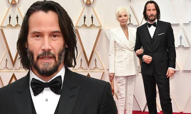270.000 fan xúc động vì ngôi sao tử tế nhất hành tinh: Người ta chọn bạn gái, Keanu Reeves đưa mẹ ruột lên thảm đỏ Oscar - Ảnh 4.