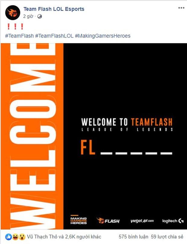 Đương kim vô địch VCS Team Flash úp mở thành viên mới, fan lầy lội gọi tên Zeros, Baroi, Faker - Ảnh 3.