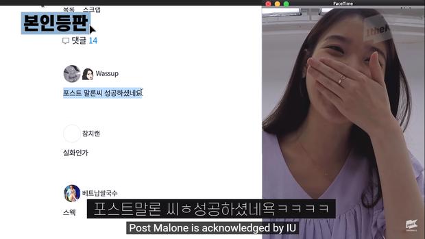 IU lần đầu chia sẻ về màn kết hợp trong mơ với Suga (BTS), vui mừng ra mặt khi được Post Malone follow - Ảnh 4.