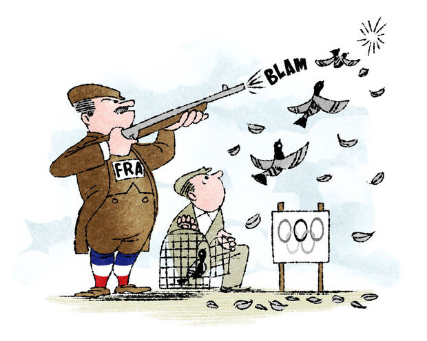 Những môn thể thao tàn ác nay đã tuyệt chủng: vặt cổ ngỗng, ném gà cho đến chết và thi Olympic bắn chim bồ câu - Ảnh 3.