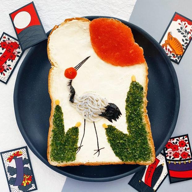 Học nghệ sĩ Nhật làm cho bữa sáng của mình trở nên thú vị bằng cách biến bánh mì thành những bức tranh tuyệt đẹp - Ảnh 10.