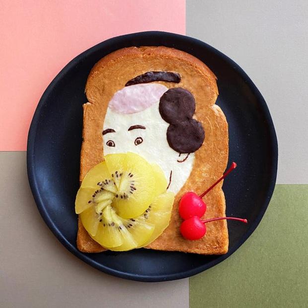 Học nghệ sĩ Nhật làm cho bữa sáng của mình trở nên thú vị bằng cách biến bánh mì thành những bức tranh tuyệt đẹp - Ảnh 4.