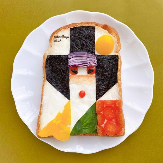 Học nghệ sĩ Nhật làm cho bữa sáng của mình trở nên thú vị bằng cách biến bánh mì thành những bức tranh tuyệt đẹp - Ảnh 5.