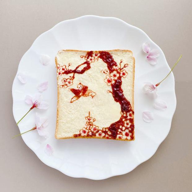 Học nghệ sĩ Nhật làm cho bữa sáng của mình trở nên thú vị bằng cách biến bánh mì thành những bức tranh tuyệt đẹp - Ảnh 7.