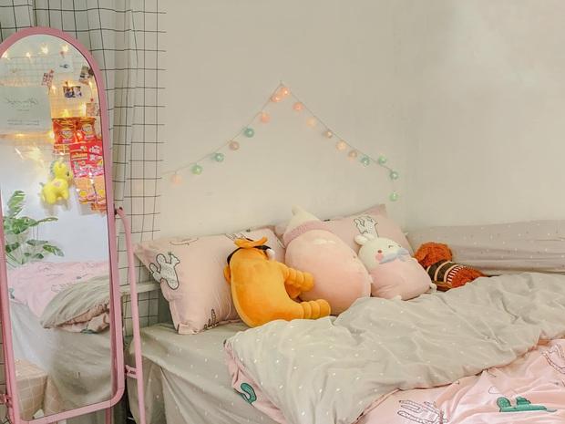 Chỉ mất chưa đến 1 triệu, cô gái tự sơn tường và decor nhà trọ giá rẻ thành nơi sống xinh như phim Hàn - Ảnh 4.