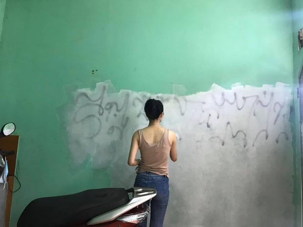 Chỉ mất chưa đến 1 triệu, cô gái tự sơn tường và decor nhà trọ giá rẻ thành nơi sống xinh như phim Hàn - Ảnh 3.