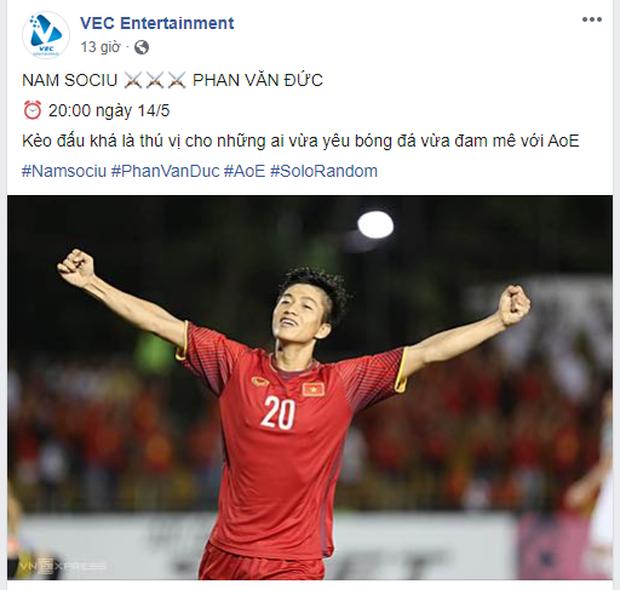Buồn chân rảnh tay, tuyển thủ Phan Văn Đức tham gia thử thách với kèo solo AoE cùng game thủ máu mặt - Ảnh 1.