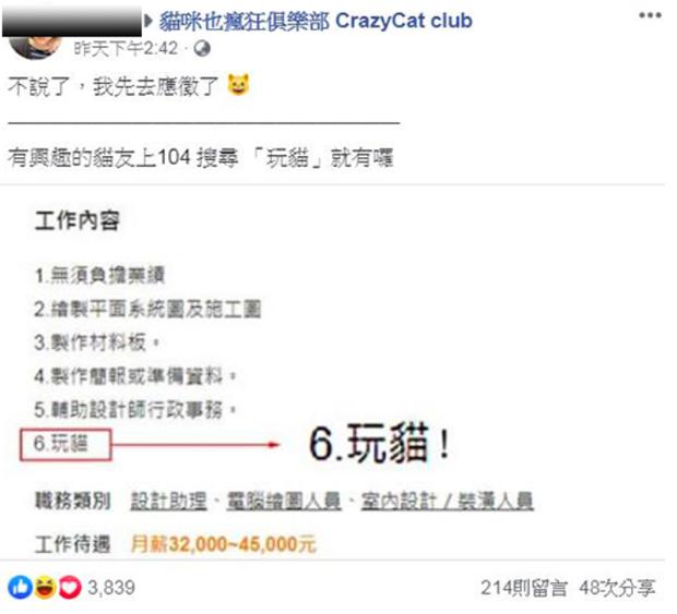 Công ty đăng tin tuyển dụng mức lương khủng còn được chơi với mèo, hội mê mệt thú cưng ngay tức khắc đổ xô ứng tuyển - Ảnh 2.