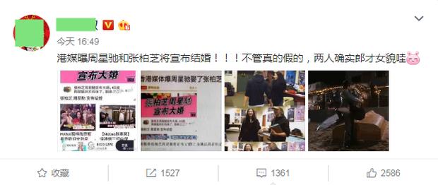 Kênh thông tin lớn tiết lộ Trương Bá Chi và Châu Tinh Trì chuẩn bị kết hôn, nhưng phản ứng của người xem mới đáng chú ý - Ảnh 3.