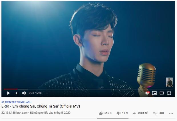 Nhận ý kiến trái chiều phần âm nhạc nhưng chỉ sau 1 đêm cả MV và 2 teaser của Hoà Minzy đều xâm chiếm top trending, Erik đang ở top 1 hãy đợi đấy! - Ảnh 3.