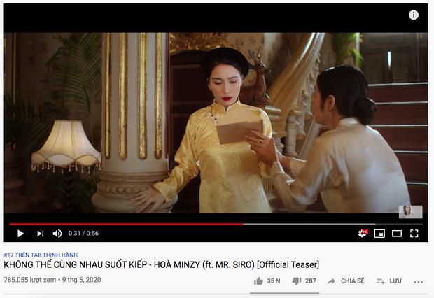 Nhận ý kiến trái chiều phần âm nhạc nhưng chỉ sau 1 đêm cả MV và 2 teaser của Hoà Minzy đều xâm chiếm top trending, Erik đang ở top 1 hãy đợi đấy! - Ảnh 5.