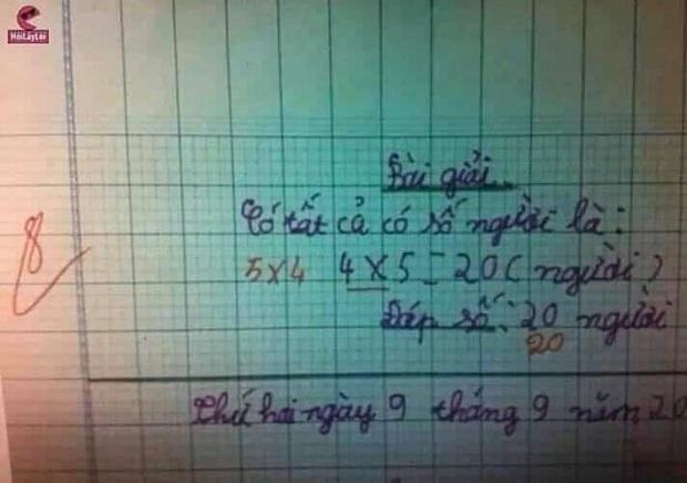 Học trò viết 4x5, cô giáo bất ngờ gạch đáp án sửa thành 5x4 khiến dân mạng tranh cãi kịch liệt vì sự nhầm lẫn Toán học sơ đẳng này - Ảnh 1.