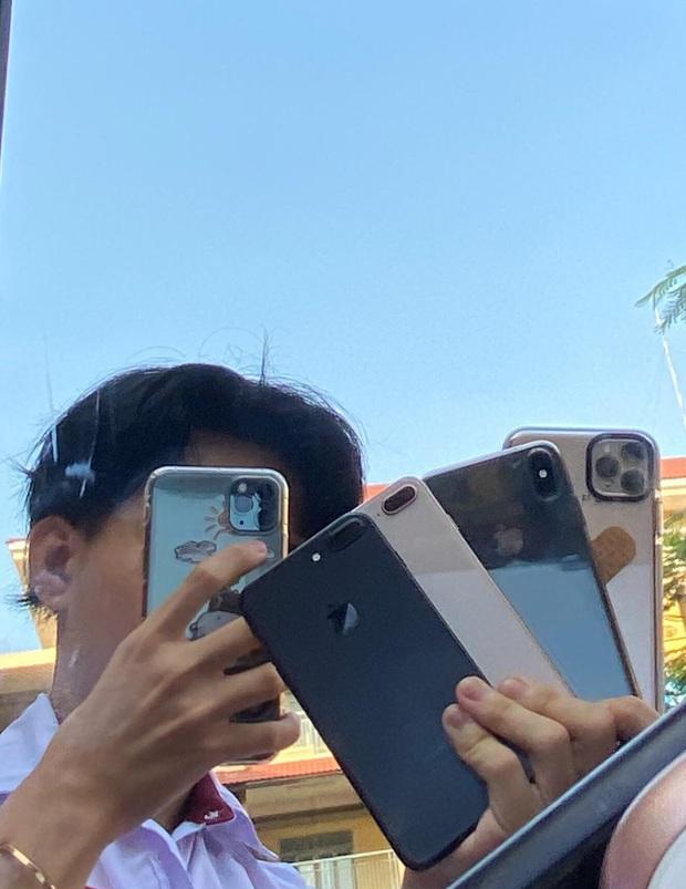 Nam sinh lớp 12 học cô Minh Hiếu đi đường quyền với dàn Iphone 11 Pro Max, XS Max xịn sò khiến dân mạng mắt tròn mắt dẹt - Ảnh 3.