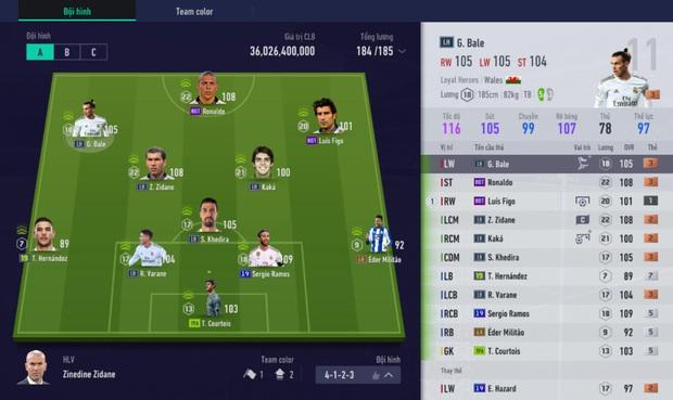 FIFA Online 4: Học Hiếu Hakumen dựng đội hình trong mơ - Team color Real Madrid - Ảnh 11.