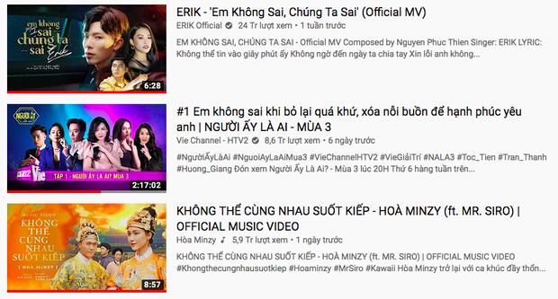 Cất công tính toán với Erik về thời gian đạt #1 trending nhưng Nam Phương Hoàng hậu Hoà Minzy vẫn không vượt được ải trai đẹp Người Ấy Là Ai? - Ảnh 2.