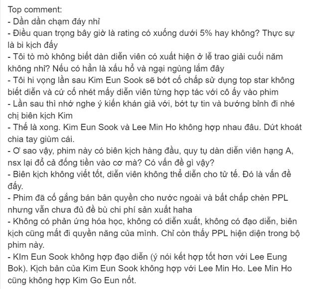 Cư dân mạng tìm người đổ lỗi cho thất bại của Quân Vương Bất Diệt: Lee Min Ho quá dở hay biên kịch quá tự tin? - Ảnh 2.