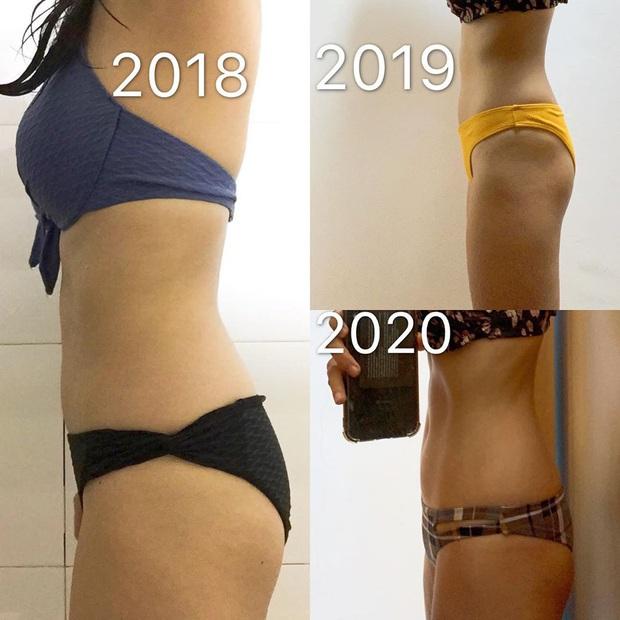 Từng bị ám ảnh vấn đề cân nặng, cô gái Việt giảm 7kg, 7cm vòng bụng trong 1 tháng nhờ ăn uống, tập luyện khoa học - Ảnh 4.